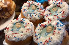 'Mr. 바른소리' 파우치 소장얼굴 담긴 도넛 불티나게 팔려