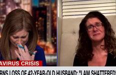 CNN앵커, 코로나19 사망 사연에 생방송 중 눈물 펑펑