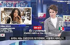 """이번엔 멕시코 방송과 인터뷰손미나 """"'韓사례 감동적' 극찬받아"""""""