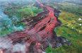 강물처럼 흐르는 하와이 '불줄기'주민, 용암서 튄 돌에 맞아 크게 다쳐