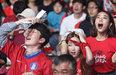 거리응원 나선 붉은악마들'아쉬움에 탄식만'