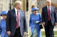 지각하고 앞길 가로막고… 트럼프, 英여왕에 결례 구설수