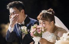 홍윤화♥김민기, 결혼 사진 공개보는 사람까지 행복해지는 마법