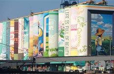 '22층 높이' 인천내항 사일로야외벽화, 기네스 북 등재
