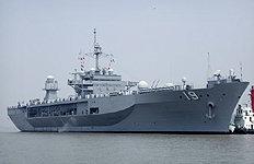 美 7함대 지휘함 블루릿지함어제 부산 입항 이유는