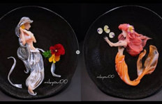 생선회가 접시에서 예술작품으로…'금손' 요리사의 '신기'