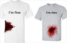 """붉은 핏자국 프린팅 티셔츠판매 논란…""""흉기사건 조롱하나"""""""