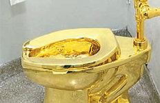 70억원짜리 '황금변기'  처칠 생가 전시중 도난