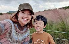 소유진♥백종원 '훈훈한 가족'제주서 아이들과 환한 미소