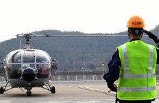 43년간의 임무 마무리해상작전헬기 알루에트-3 퇴역