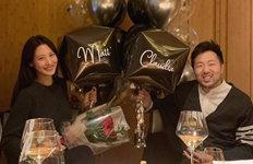 '14일 결혼' 수현, 예비신랑과지인 모임 한컷 공개