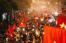 """""""도시마비"""" """"붉은악마 떠올라""""'박항서 매직' 펼쳐진 베트남"""