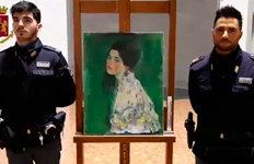22년 전 도난된 클림트 그림伊미술관 외벽 속에서 발견