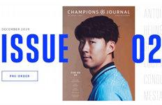 손흥민, UEFA 챔피언스저널2020년 신년 표지 모델