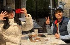 정준♥김유지, 설 연휴에도커플모자 쓰고 데이트