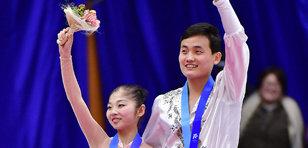 북한 피겨에서 첫 메달 획득