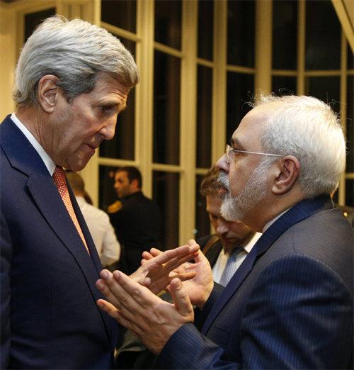 케리 美국무-자리프 이란 외교장관… 핵협상 타결 공로로 채텀하우스賞