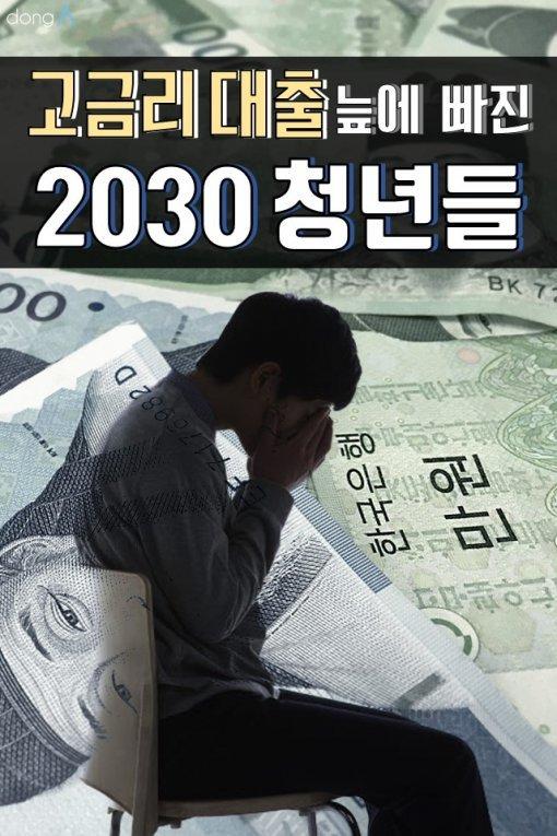 [카드뉴스]'고금리 대출' 늪에 빠진 2030 청년들