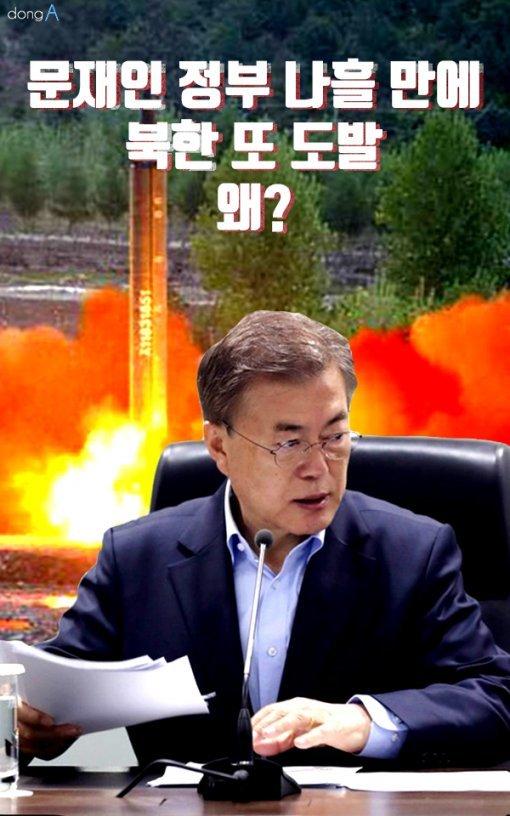 [카드뉴스] 문재인 정부 나흘 만에 북한 또 도발…왜?