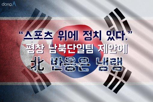 """[카드뉴스]""""스포츠 위에 정치 있다""""…평창 남북단일팀 제안에 北 반응은 냉랭"""