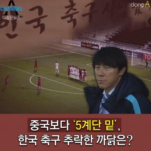 [카드뉴스]중국보다 '5계단 밑', 한국 축구 추락한 까닭은?