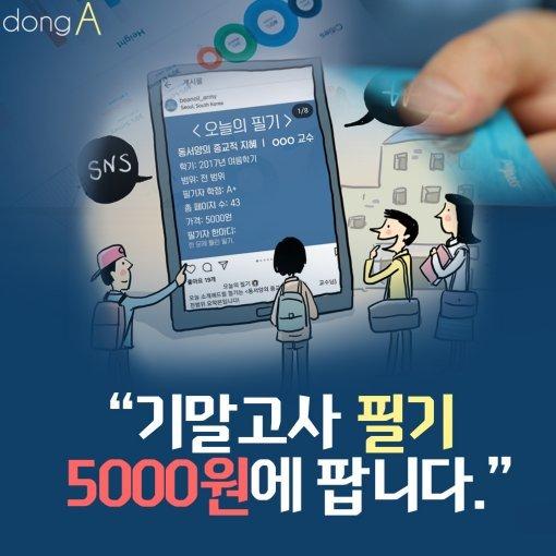 """[카드뉴스]""""기말고사 필기 5000원에 팝니다."""""""