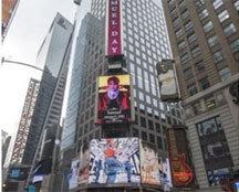 """사무엘 팬클럽, 美 타임 스퀘어에 생일 축하 광고 """"평생의 자랑"""""""