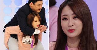 경리, 120kg 김준현 번쩍~ '천하장사 아이돌' 등극