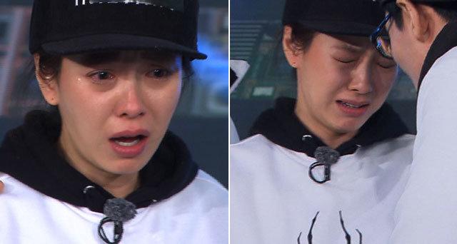 """송지효 """"가까이 오지마"""" 녹화 중 눈물 펑펑 '돌발상황'"""