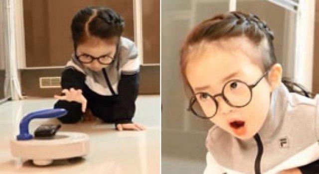 5살 꼬마 유튜버, 韓 여자 컬링 패러디