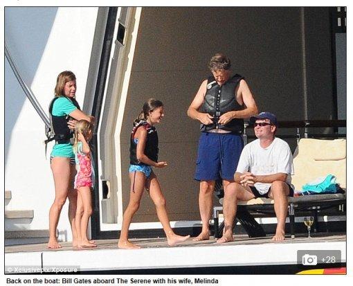 빌 게이츠, 초호화 휴가 포착…요트 대여만 '50억' : 스포츠동아 Bill Gates House And Family