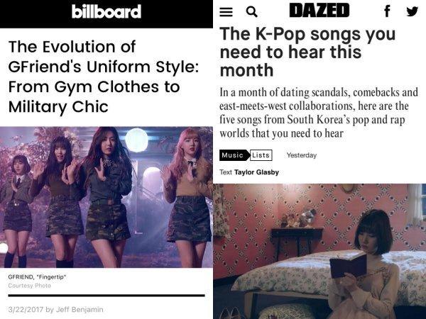 """英-美 음악 매체, 여자친구 콘셉트 변화에 주목 """"스타일 진화 中"""""""