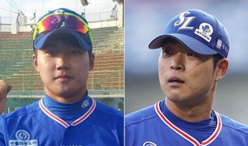 """'첫 홈구장 나들이' 황선도·안성무 """"1군 선수로 다시 오겠다"""""""