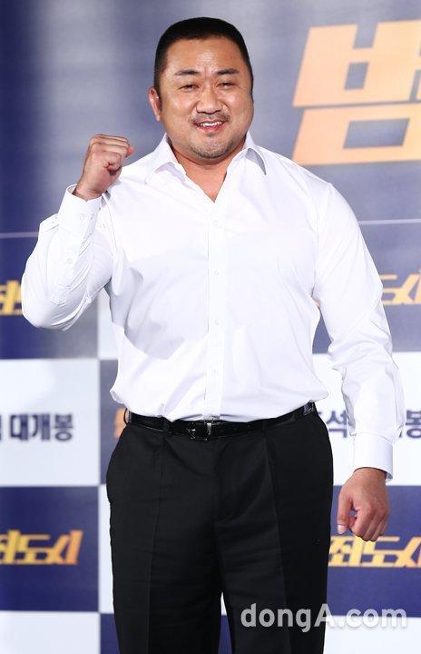 """[DA:현장] """"경찰 되고 싶었다""""…'범죄도시' 마동석의 '드림스 컴 트루' (ft.예정화♥)"""