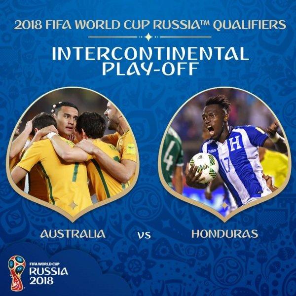 월드컵 PO 대진 확정 '호주 VS 온두라스, 뉴질랜드 VS 페루'