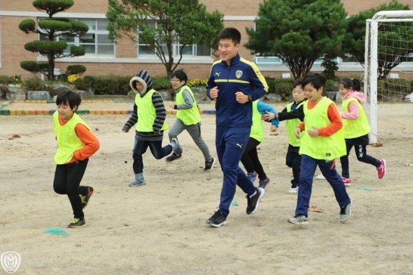 아산무궁화, 동방초 찾아 21일 홈경기 홍보 활동