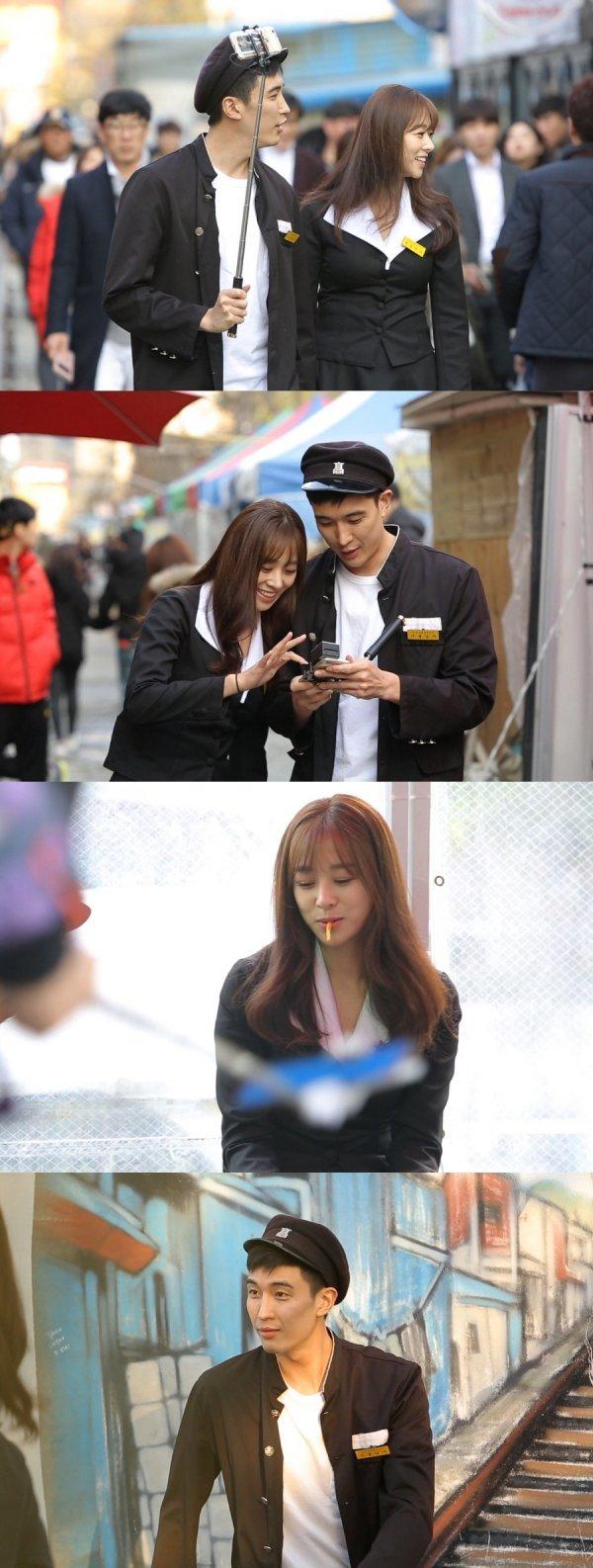 """[DAY컷] '너는 내 운명' 강경준♥장신영, 군산서 교복데이트 """"잘 사세요"""""""