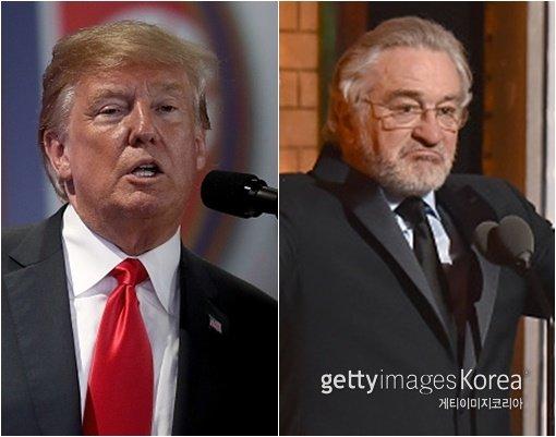 """[DA:할리우드] 도널드 트럼프, 자신에게 욕설한 로버트 드니로에 """"IQ가 낮아"""""""