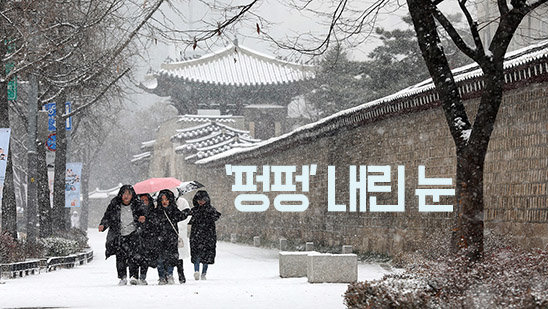 출근길 눈 '펑펑'…오후부터 맑음