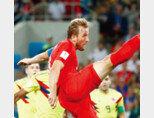 7월 11일 기준 러시아월드컵 득점 순위 1위(6개)인 잉글랜드 축구대표팀 해리 케인. [동아DB]