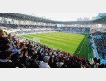 3월 9일 대구FC와 제주유나이티드FC의 경기가 열린 DGB대구은행파크. 관중석을 줄여 박진감을 높였다. [동아DB]