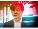 조국 법무부 장관 후보자가 8월 21일 인사청문회 준비 사무실로 출근하는 모습. [뉴스1]