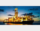 미국 석유회사 엑슨모빌 시추선이 가이아나 심해에서 원유를 탐사하고 있다. [엑슨모빌]