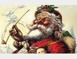 1881년 1월 1일자 '하퍼스 위클리' 표지 그림 속 산타. 토마스 내스트가 그린 이 그림이 현대적 산타의 원형이다. [위키미디어]