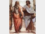 플라톤과 아리스토텔레스. (그림=라파엘 작 [아테네 학당 일부], 1509)