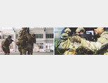 미군(빨간색 원)과 대만군 특수부대원들이 대만에서 합동훈련을 하고 있다(왼쪽). 대만군(노란색 원)과 미군 특수부대원들이 헬기에 탑승하고 있다. [미군 제1특전단 페이스북]