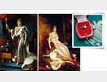 대관복을 입은 나폴레옹  1세와 조세핀 황후. 나폴레옹의 프러포즈 반지  '너와 나(Toi et Moi) 링'의  200여 년 전 모델(왼쪽부터). [쇼메]