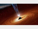 블랙홀은 이름처럼 검은 구멍이 아니다. [NASA 제공]