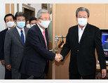 10월 9일 국민의힘 김종인 비상대책위원장이 김무성 전 의원이 주도하는 '더 좋은 세상으로 포럼'에 참석했다. [동아db]