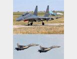 중국 공군이 보유한 플랭커 계열의 대형 복좌 기체인 Su-30MKK(위) 기종과 J-16. [airliners 홈페이지 제공, 중화인민공화국 국방부 제공]